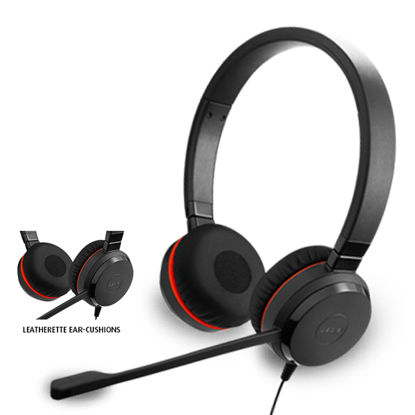 JABRA EVOLVE 30 II DUO UC 3.5 mm USB audifono