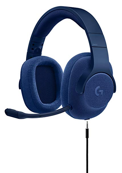 LOGITECH G433 7.1 Wired, Microfono, Surround Headset, Blue
