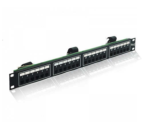 PATCH PANEL CAT 5E 24 PUERTAS 1U