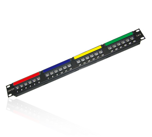 PATCH PANEL CAT 6  24 PUERTAS 1U