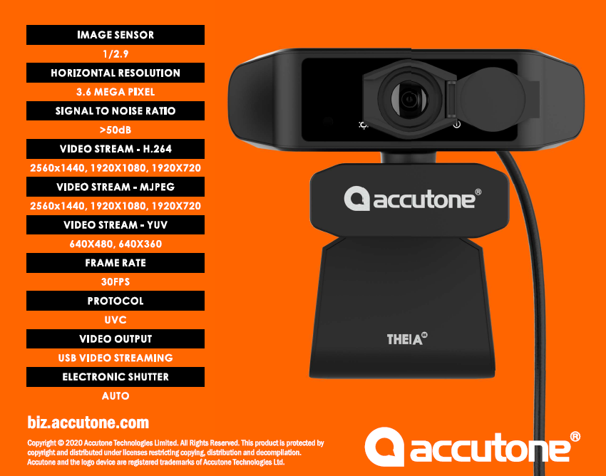 ACCUTONE THEIA-2K Camara Web