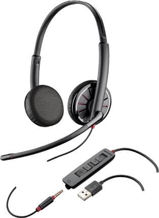 PLANTRONICS BLACKWIRE C325M audifonos